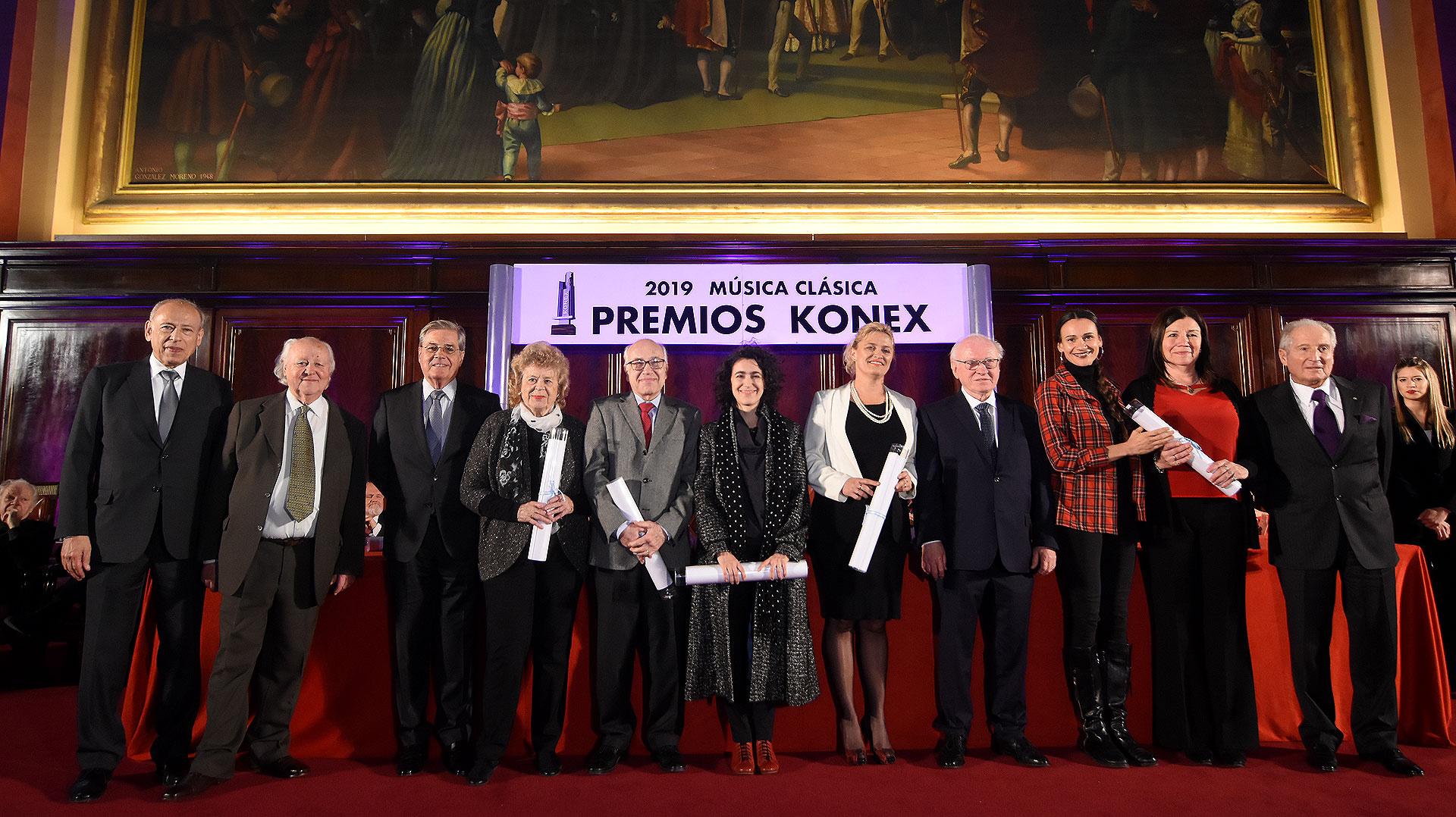 En la disciplina entidades musicales, los representantes de la Asociación Mariano Moreno de Paraná, Buenos Aires Lírica, Juventus Lyrica y Mozarteum Argentino