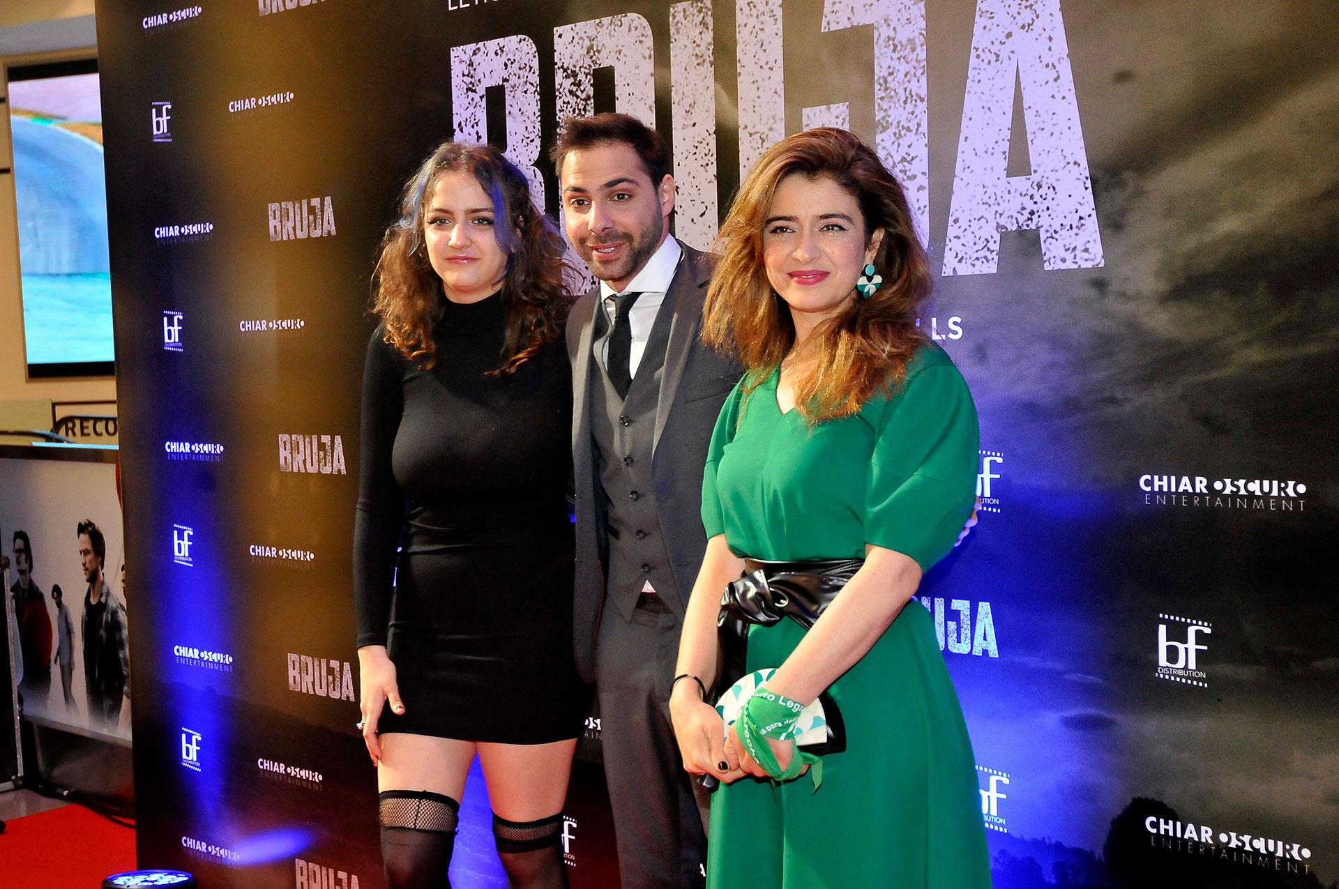 """Miranda de la Serna, Grego Rosello y Érica Rivas, protagonistas de la película """"Bruja"""" (Darío Batallan / Teleshow)"""