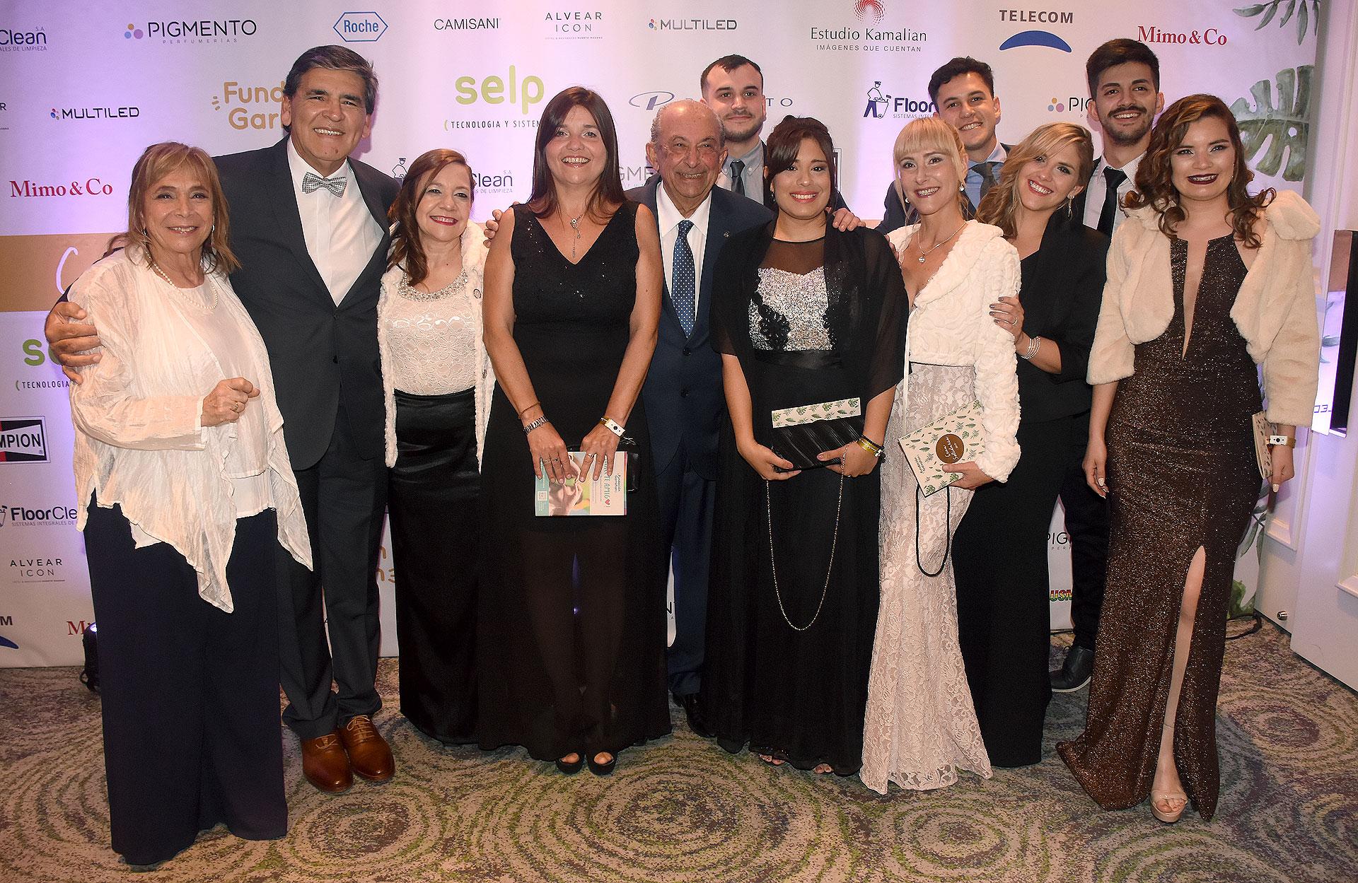 Los fundadores y el titular de la Fundación Ciudad Limpia, Carlos Alabe