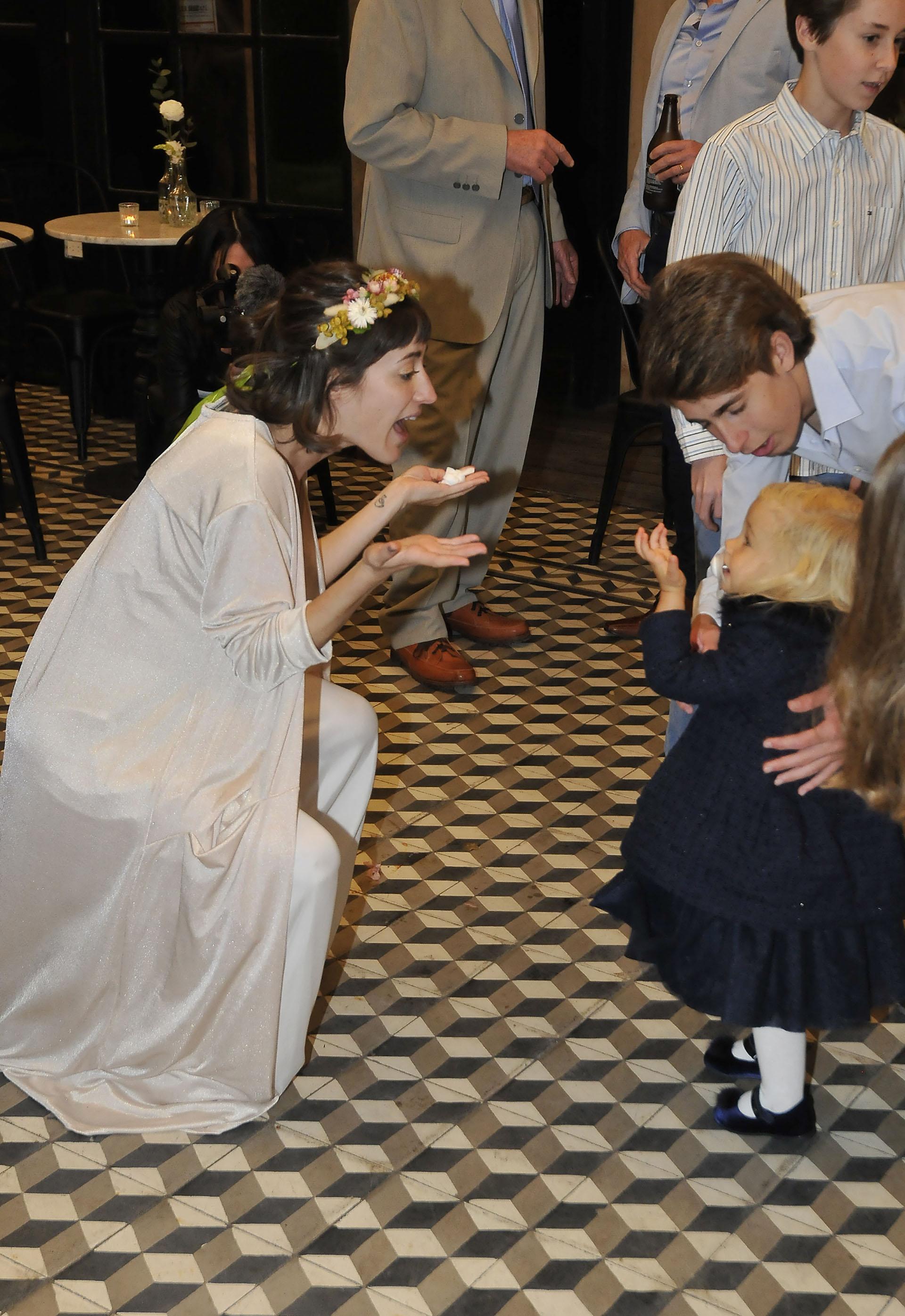 Camila con su sobrina Matilda