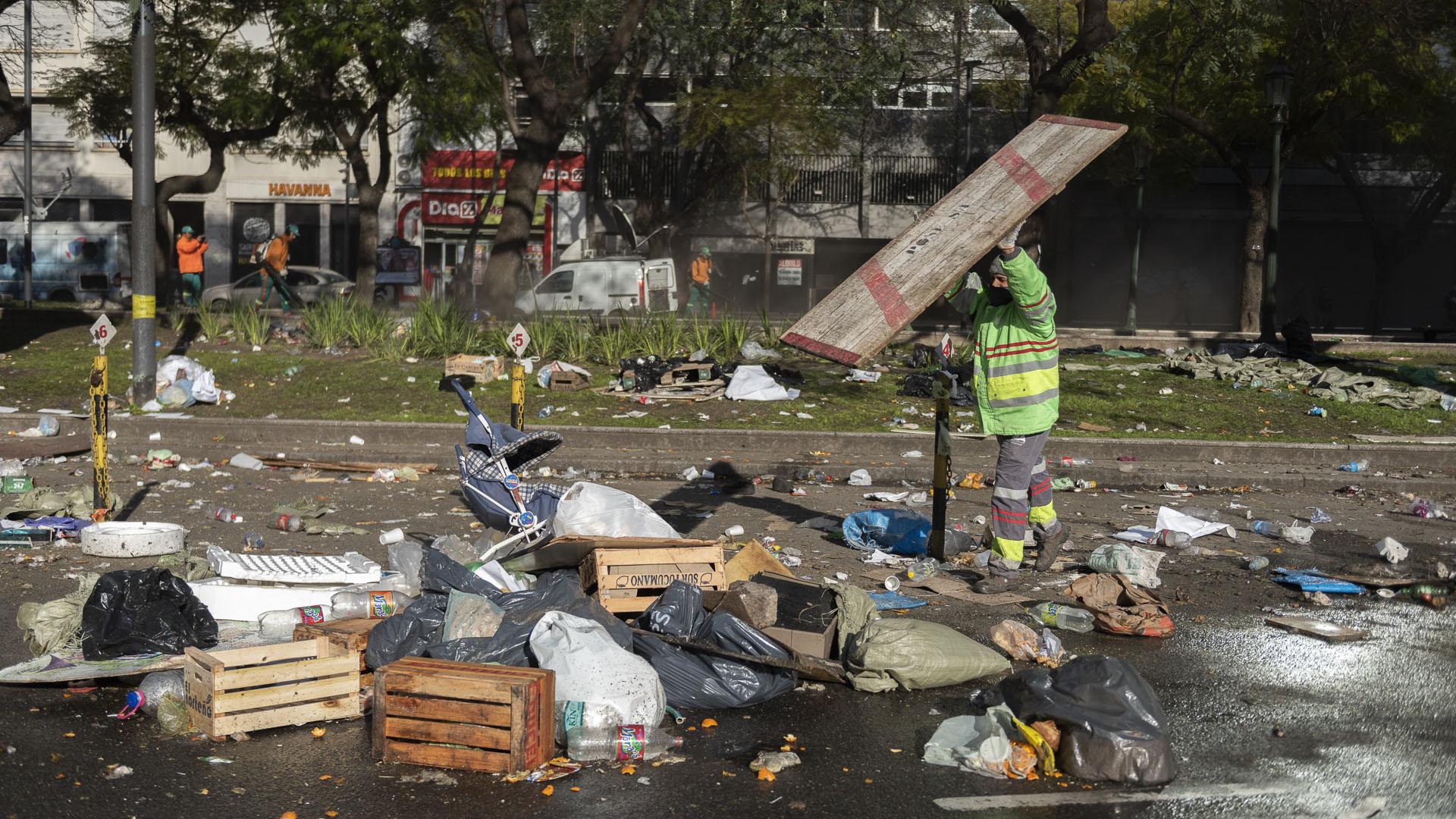 La medida complicó el tránsito en el Centro porteño desde el miércoles a la tarde