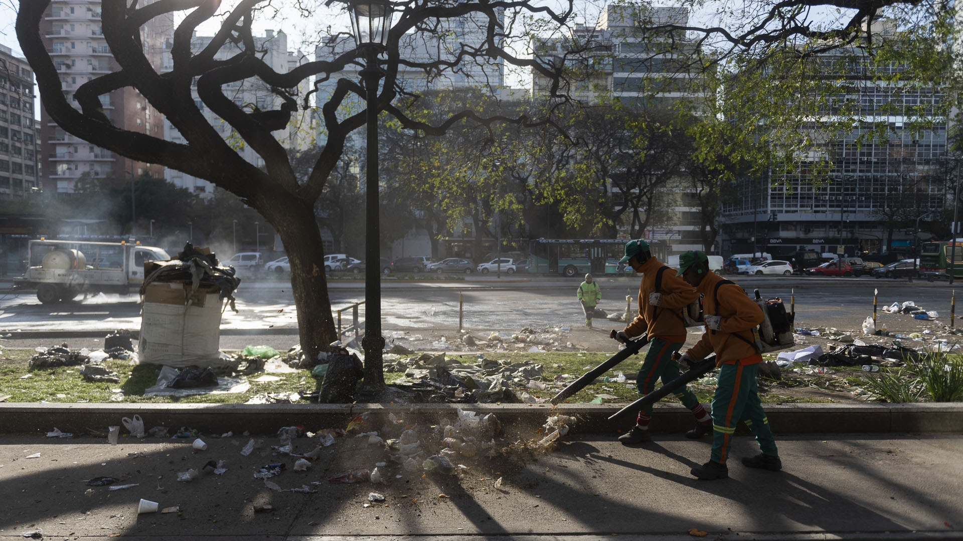 Las organizaciones piqueteras que se instalaron frente al Ministerio de Salud y Desarrollo Social suspendieron la medida y culminaron antes la protesta