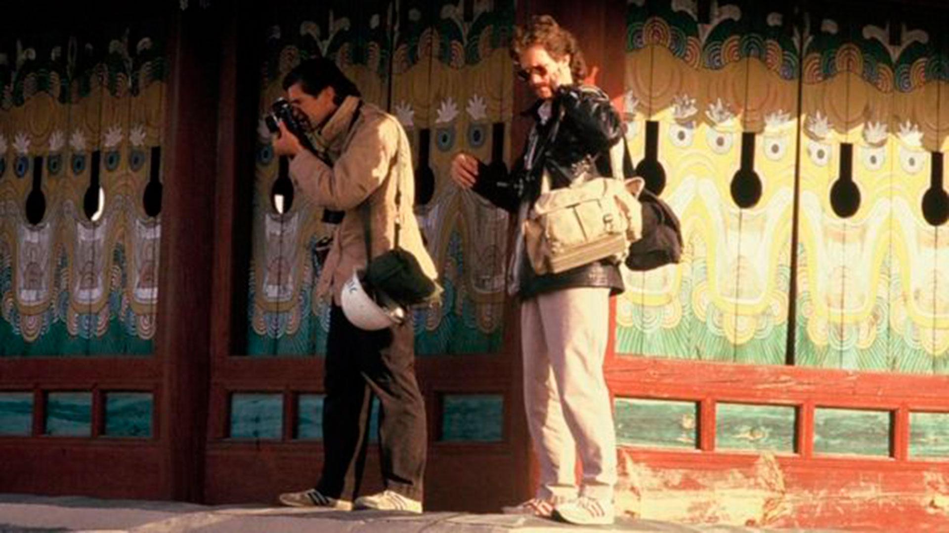 Charlie Cole, a la derecha, en Corea del Sur en 1987