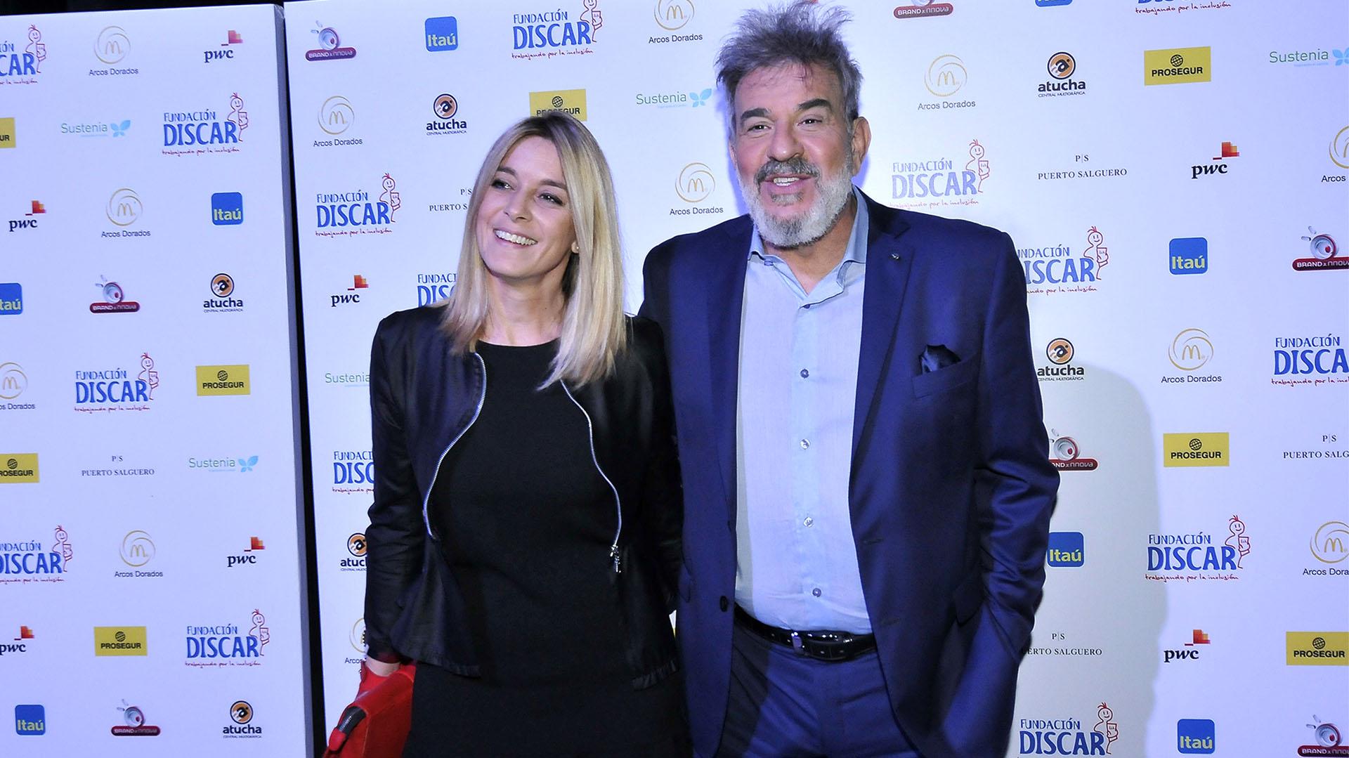 Miguel Ángel Rodríguez y su novia Marcela