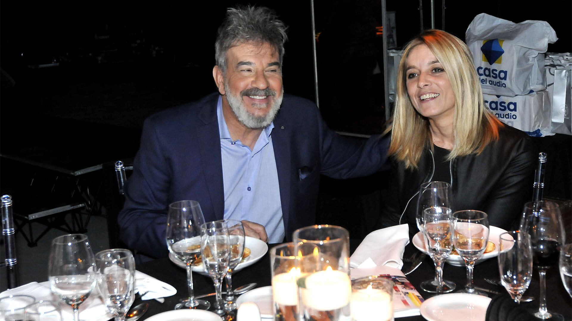 Miguel Ángel Rodríguez y su pareja