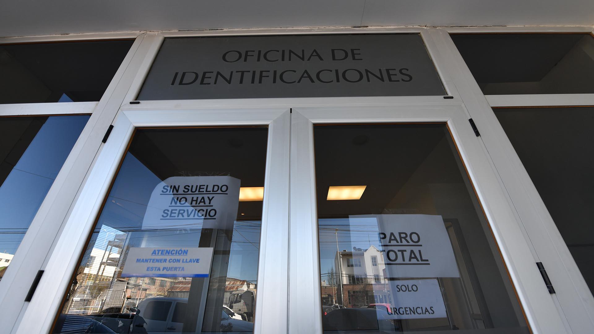 Las oficinas del ministerio público fiscal también se encuentran con retención de actividades