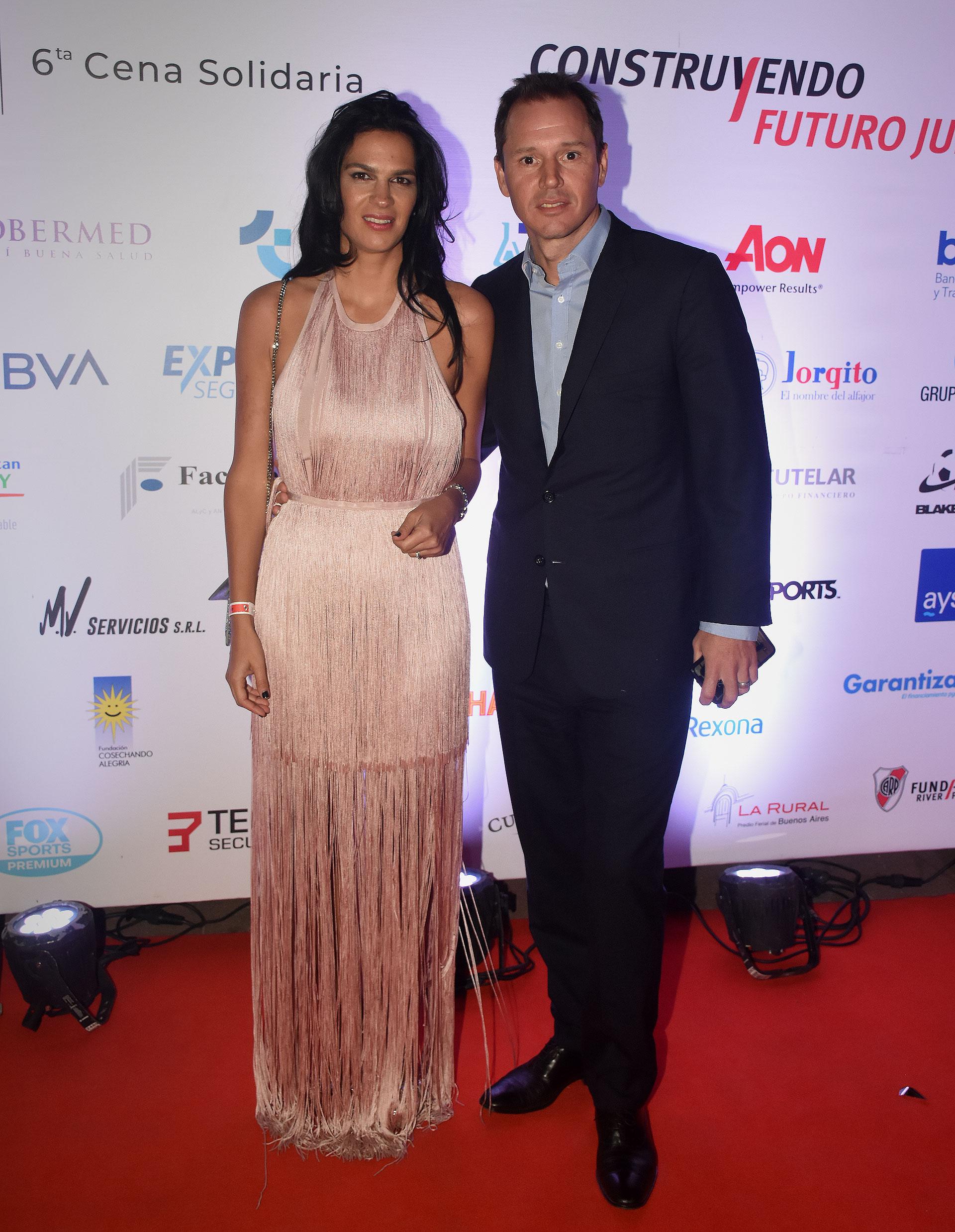 El vicepresidente de River, Jorge Brito, y su mujer Gabriela Vaca Guzmán
