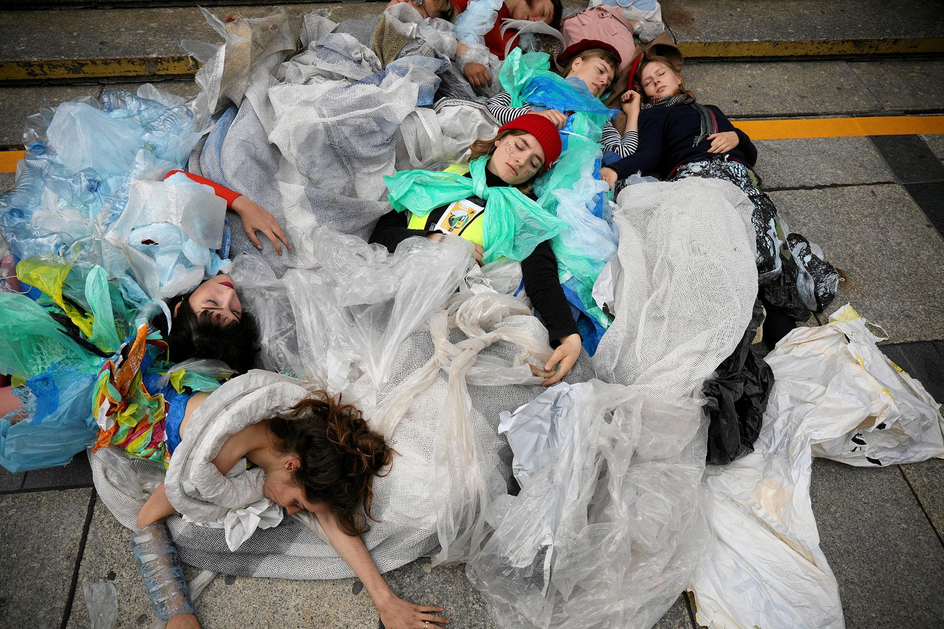 La instalación fue una de las imágenes más potentes de la jornada (Maciek Jazwiecki/Agencja Gazeta via REUTERS)