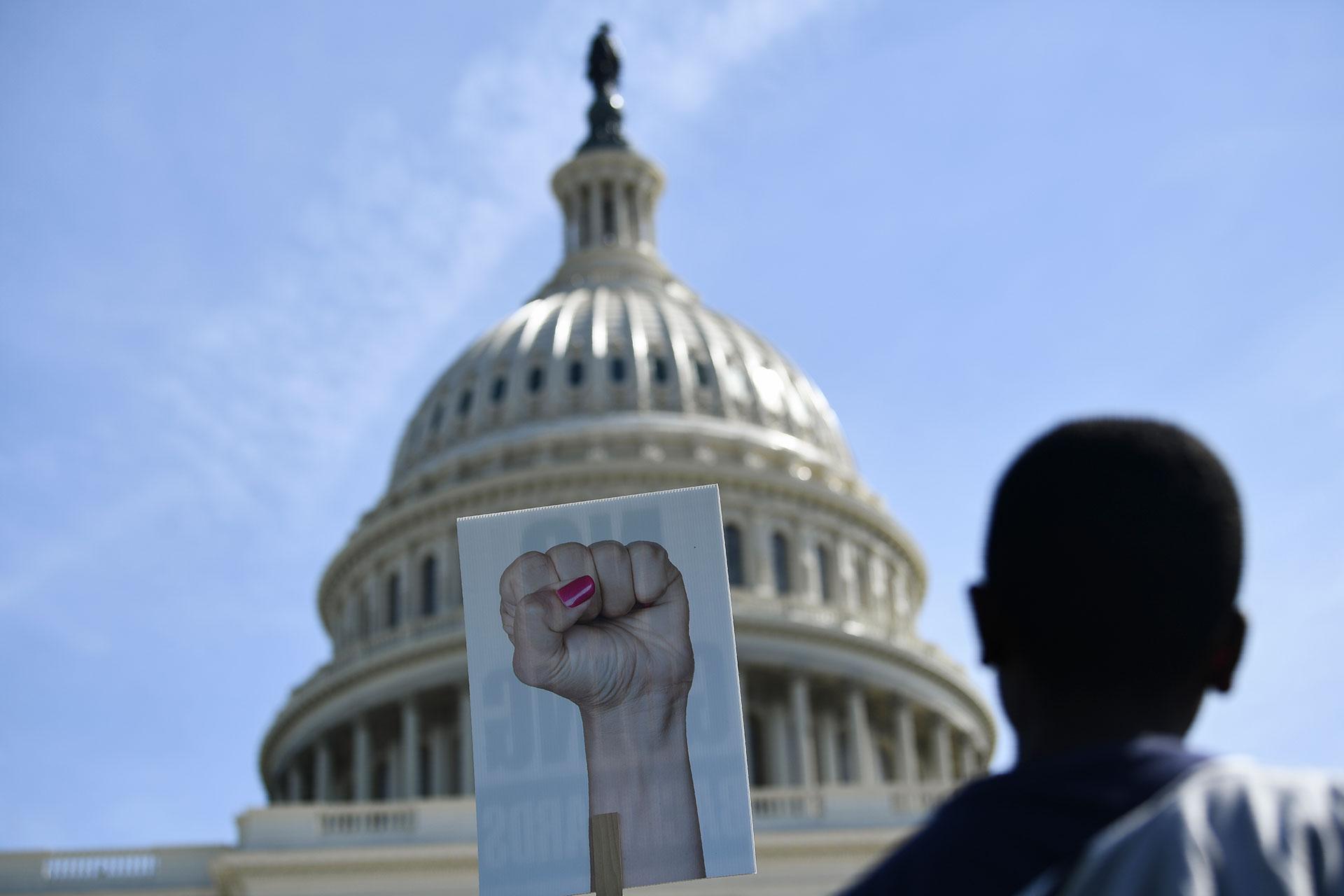 EEUU llena de gente contra el cambio climático (AFP)