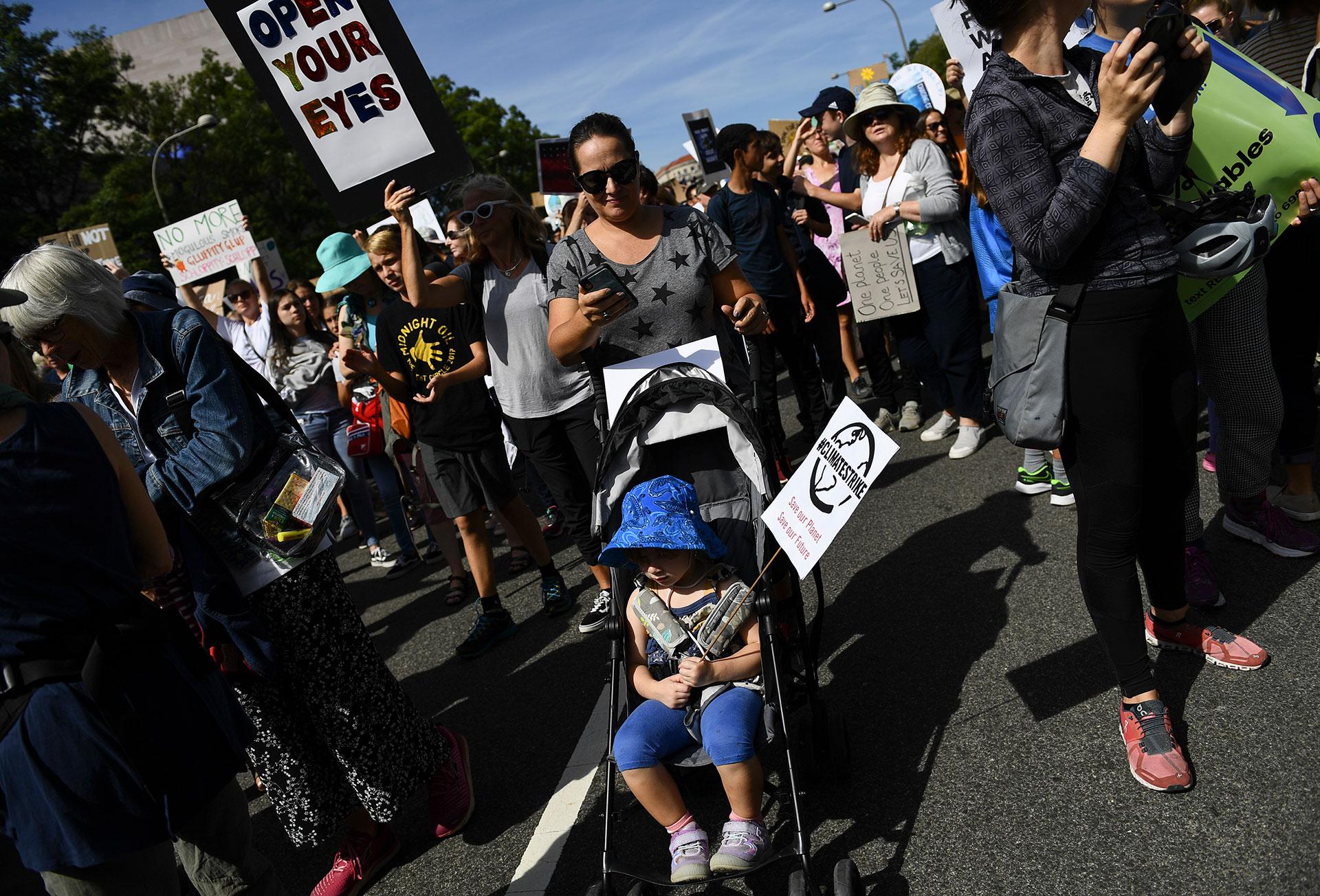 Lar marchas llegaron a Estados Unidos (AFP)