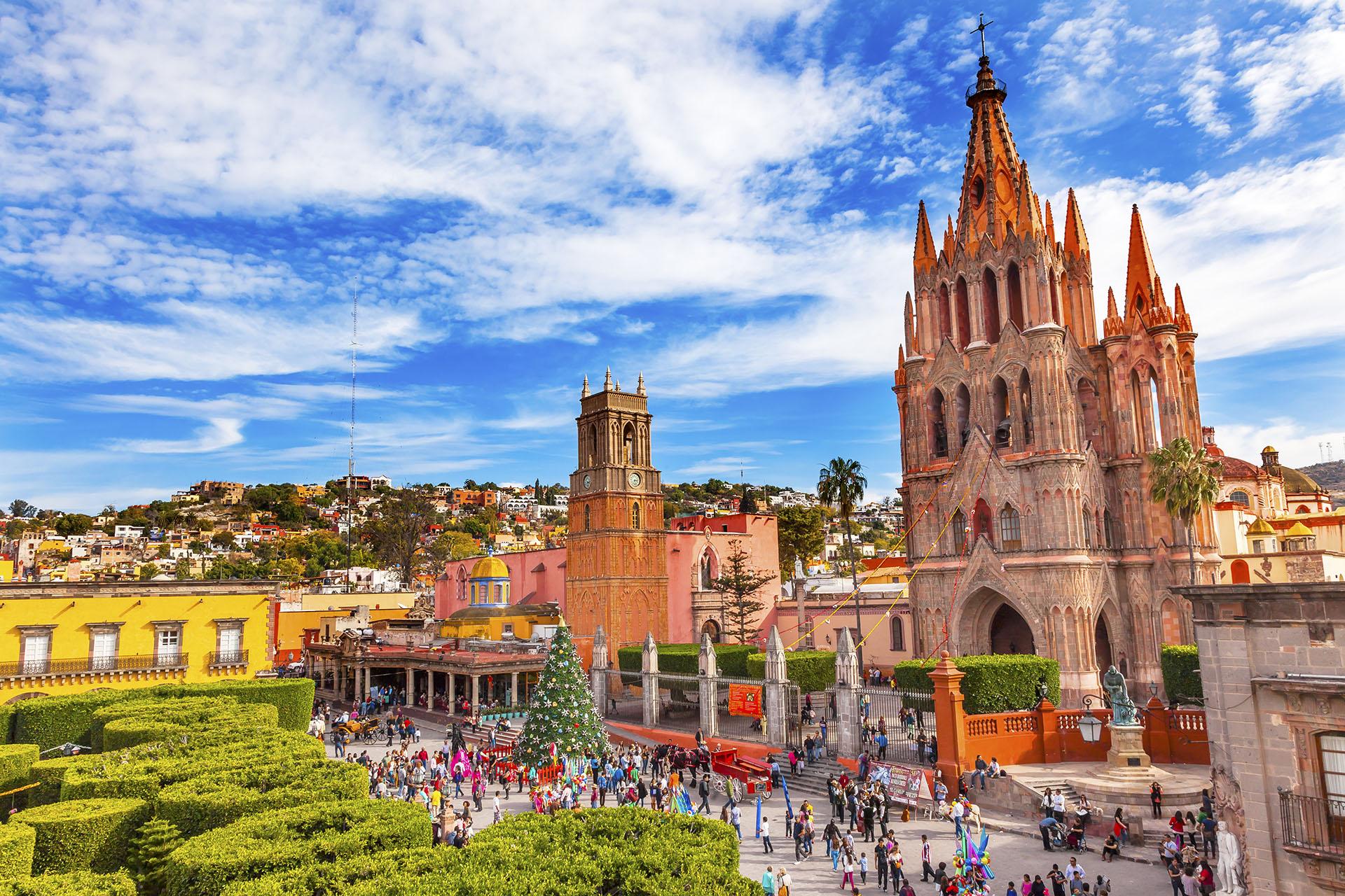 San Miguel de Allende es considerada una de las ciudades más bellas de México porque está el Santuario de Jesús de Atotonilco, una iglesia declarada Patrimonio de la Humanidad por la UNESCO