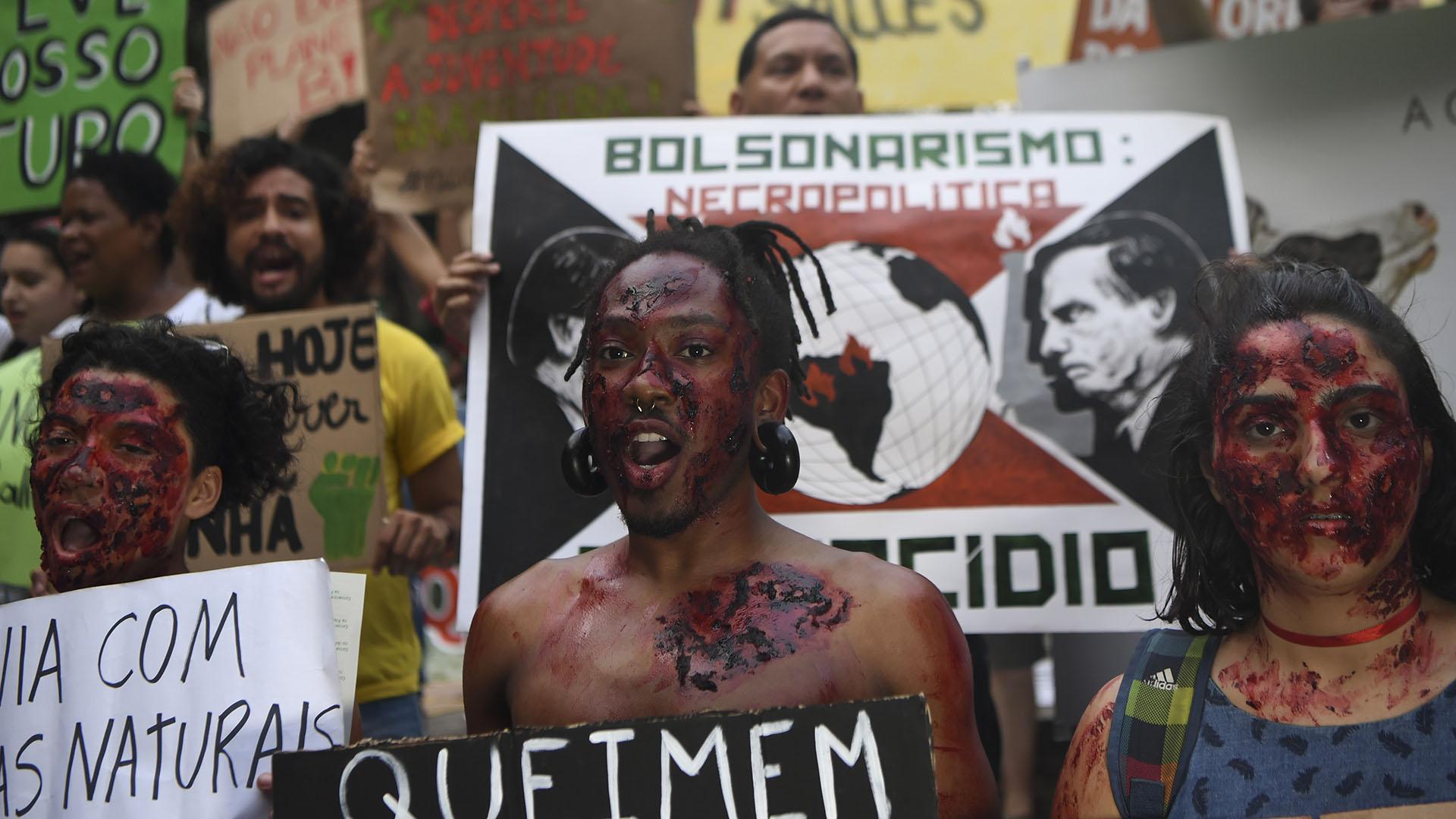 """El presidente Jair Bolsonaro advirtió este viernes que su discurso en la ONU sobre el Amazonas generará reacciones. """"Podemos tener problemas"""", dijo (AFP)"""