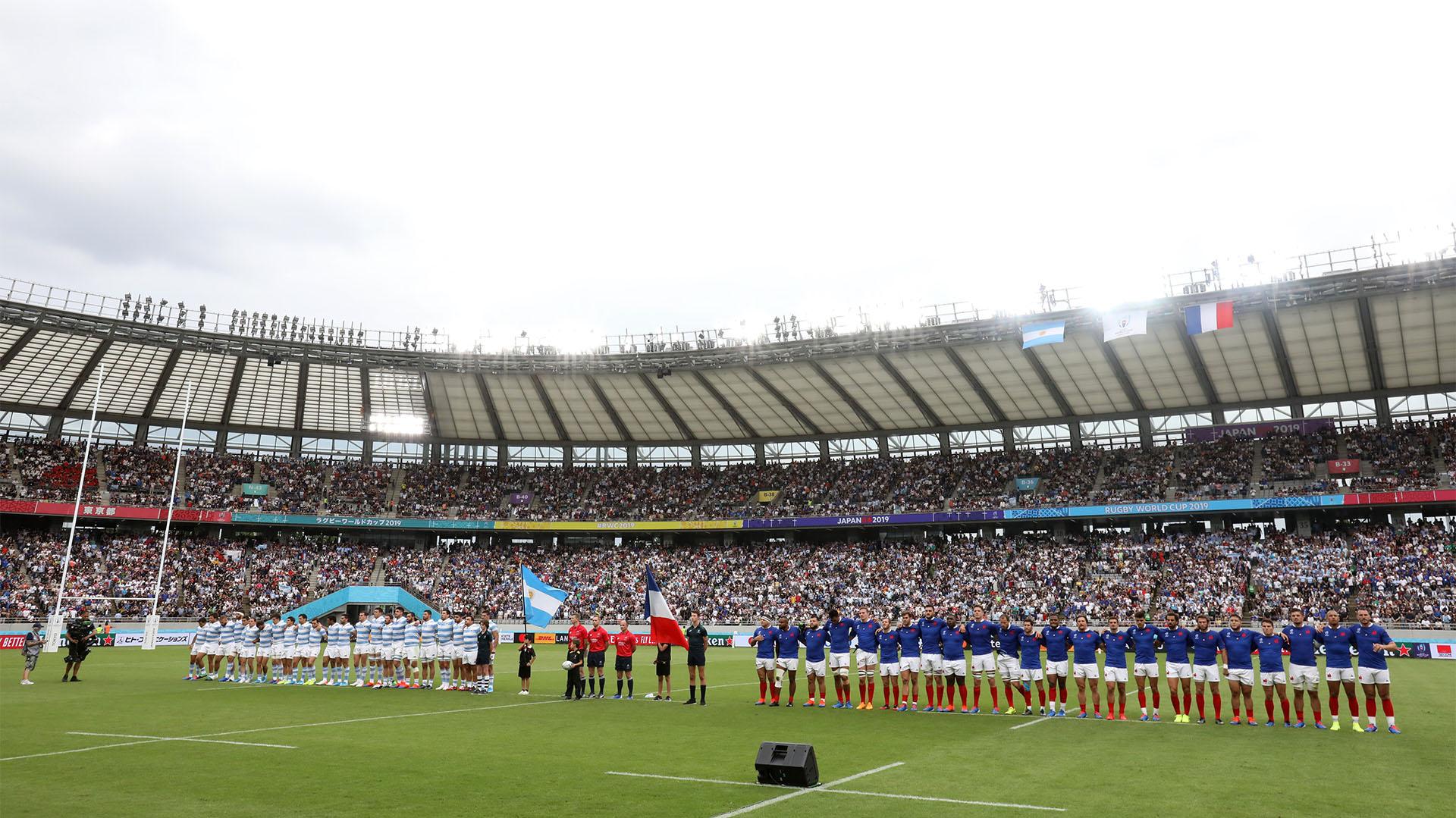 Una postal del Tokyo Stadium, sede del partido entre Argentina y Francia (REUTERS/Matthew Childs)