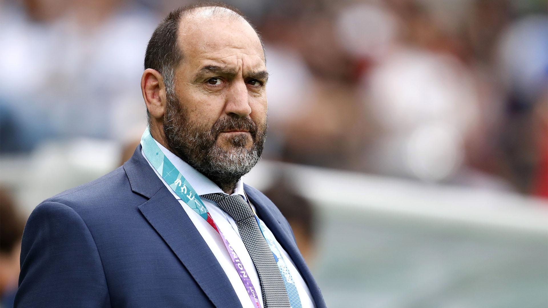 Mario Ledesma hizo su estreno como head coach de Los Pumas en el Mundial (REUTERS/Matthew Childs)