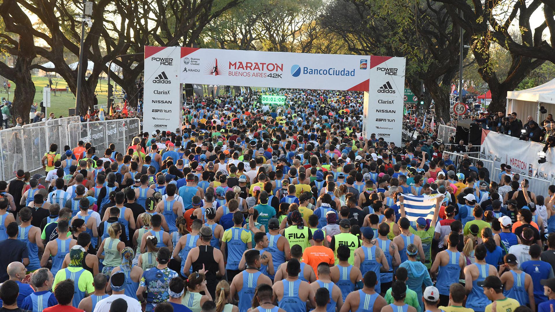 La maratón de Buenos Aires fue una verdadera fiesta durante el domingo por la mañana