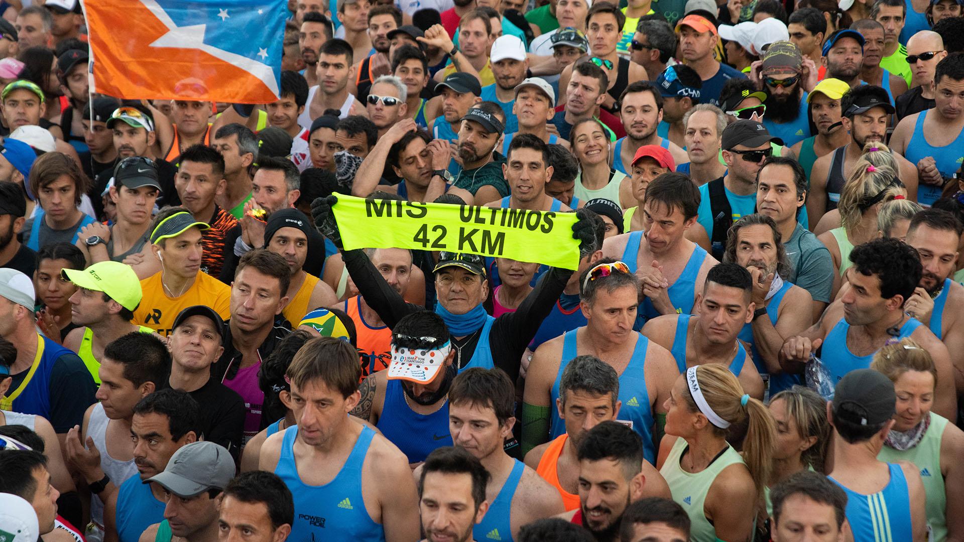 El corredor que anunció que esta sería la última maratón de su vida