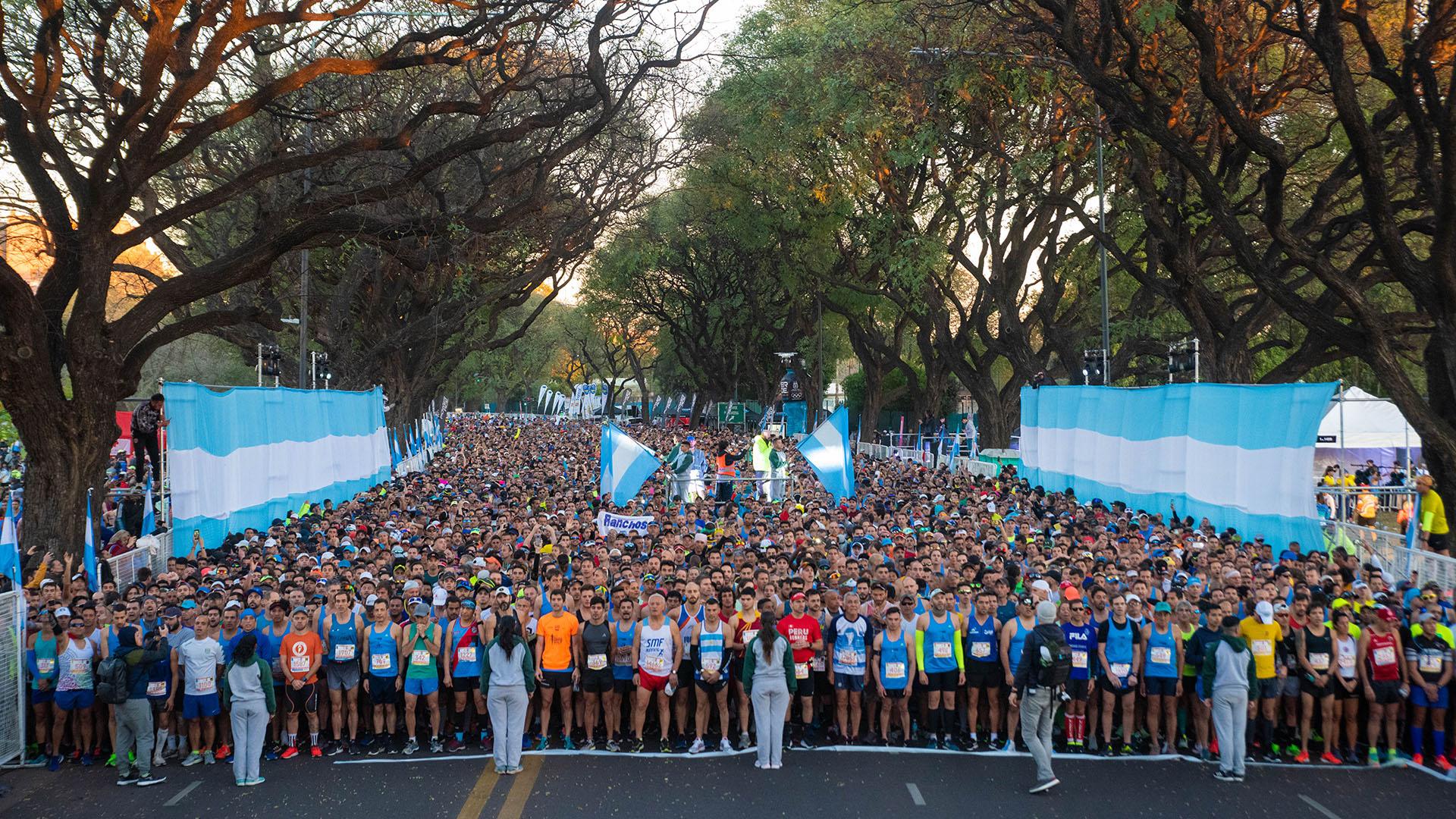 La maratón se inició poco después de las 7 de la mañana