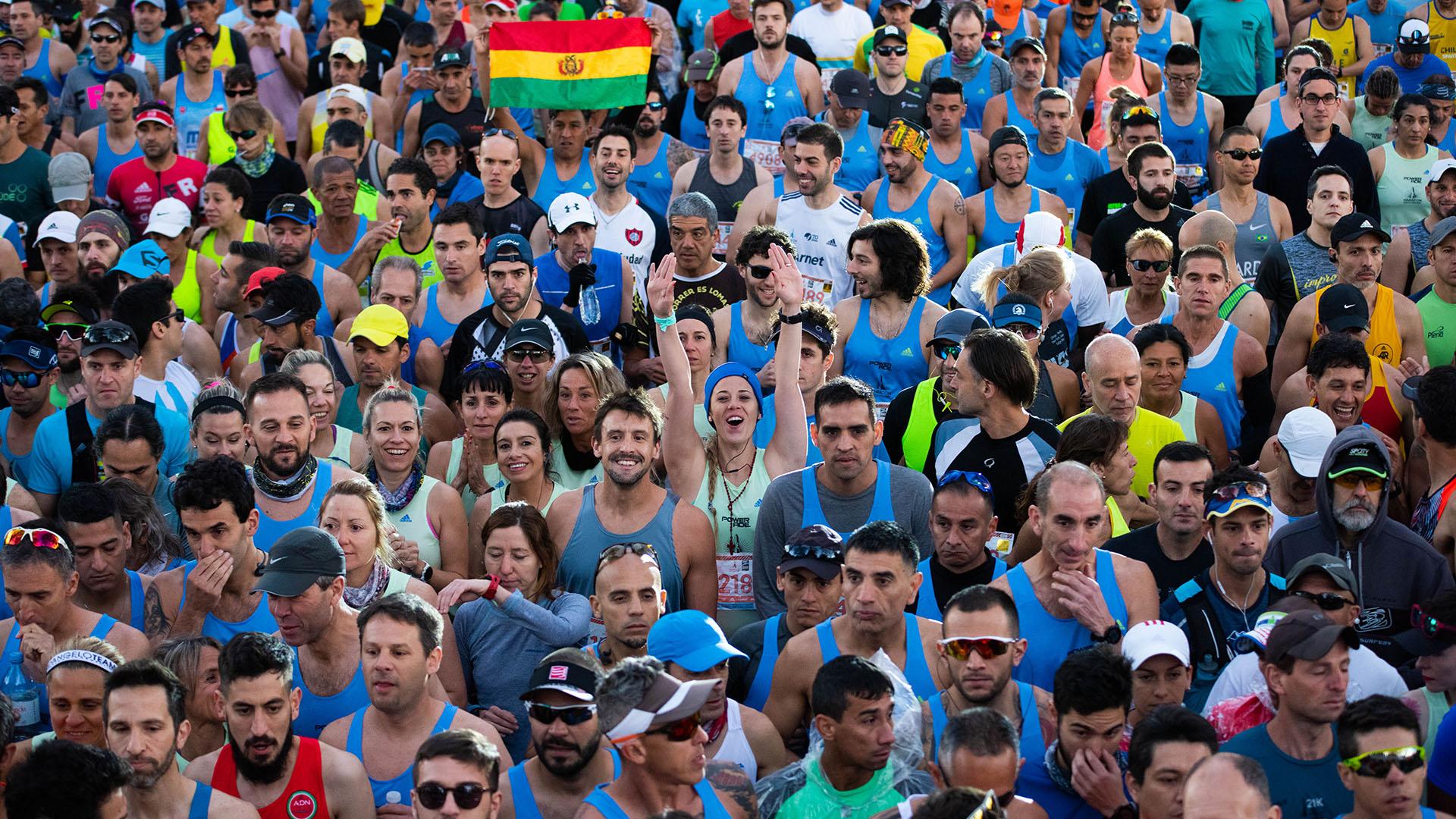 Gente de todas las edades y de diferentes partes del mundo. Los 42k de Buenos Aires representan a un evento único