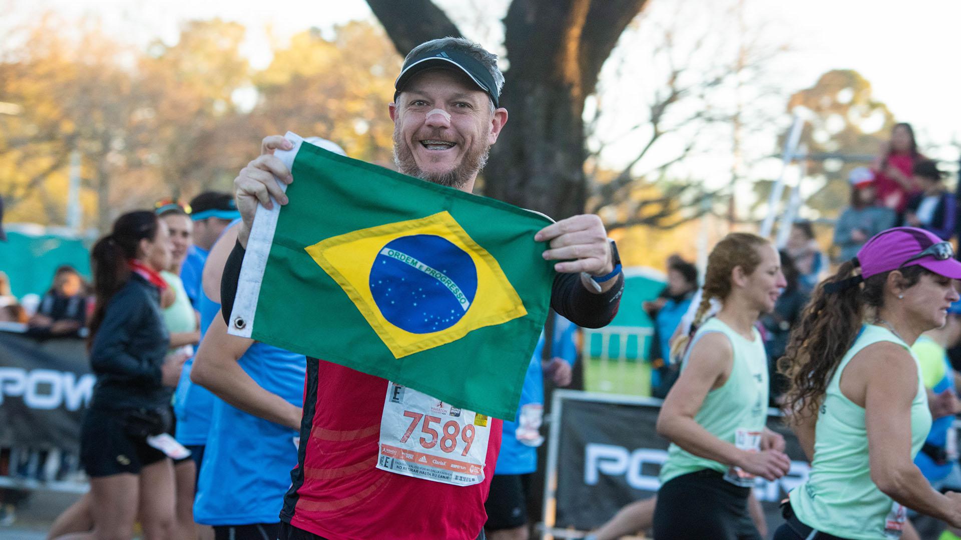 Según la organización, más de 1.600 brasileños participaron de la maratón