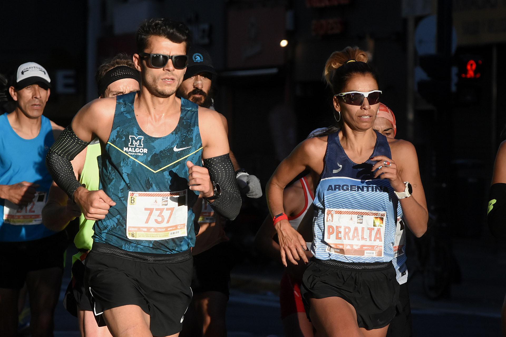 La imagen de la prestigiosa maratonista argentina, María Peralta