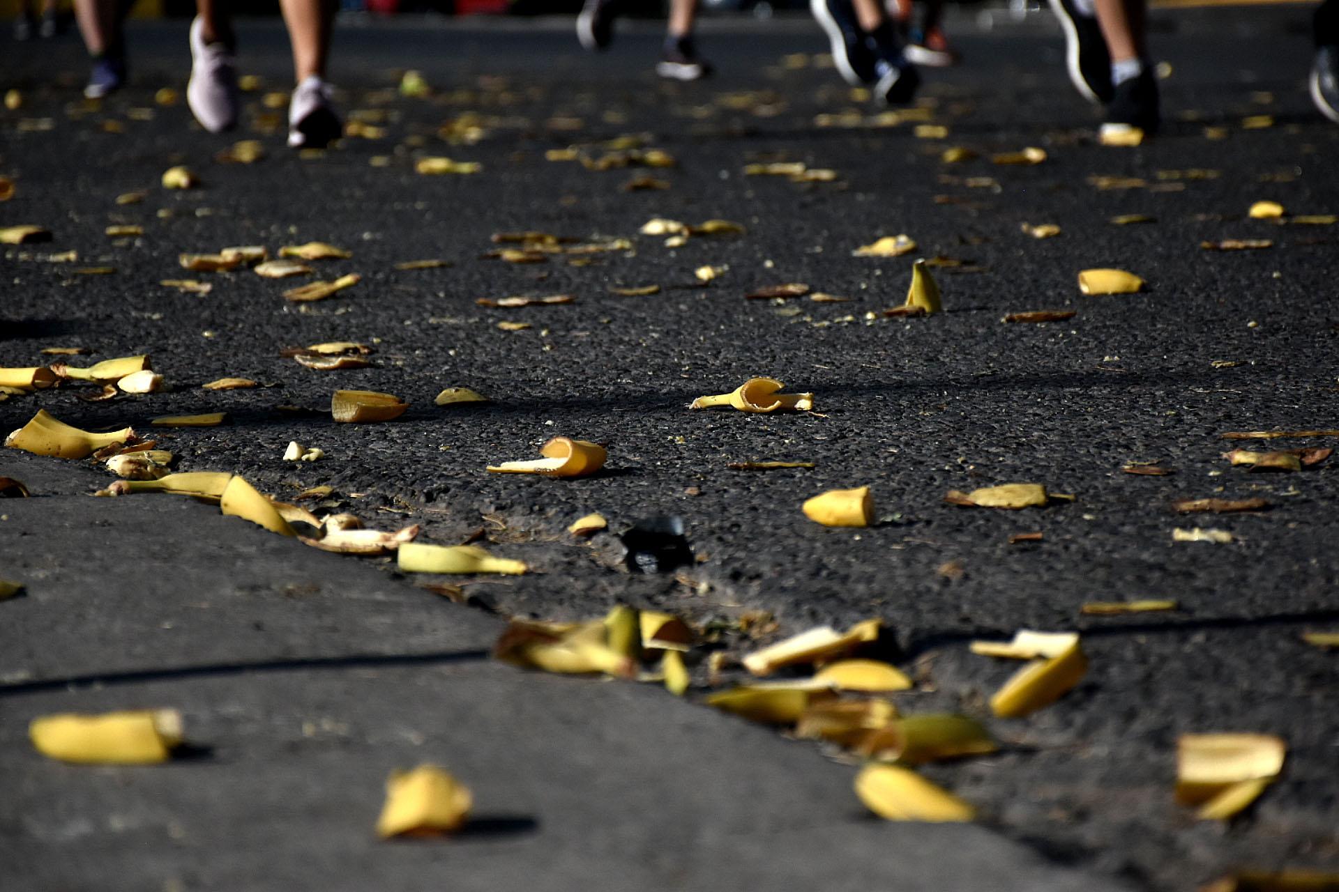 Las bananas fueron una de la fuente de alimento y energía de la mayoría de los participantes