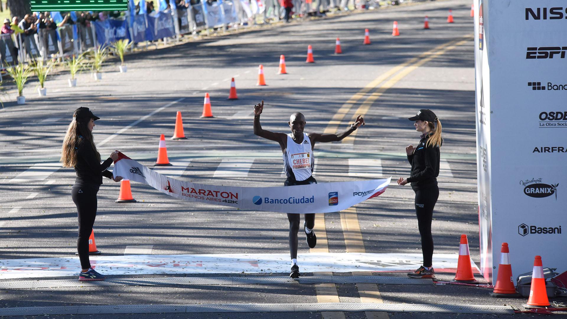 Kiplagat Chebet batió el récord de la competición y pulverizó el tiempo de 2:05:20 conseguido anteriormente por su compatriota Saina Kipbemboi