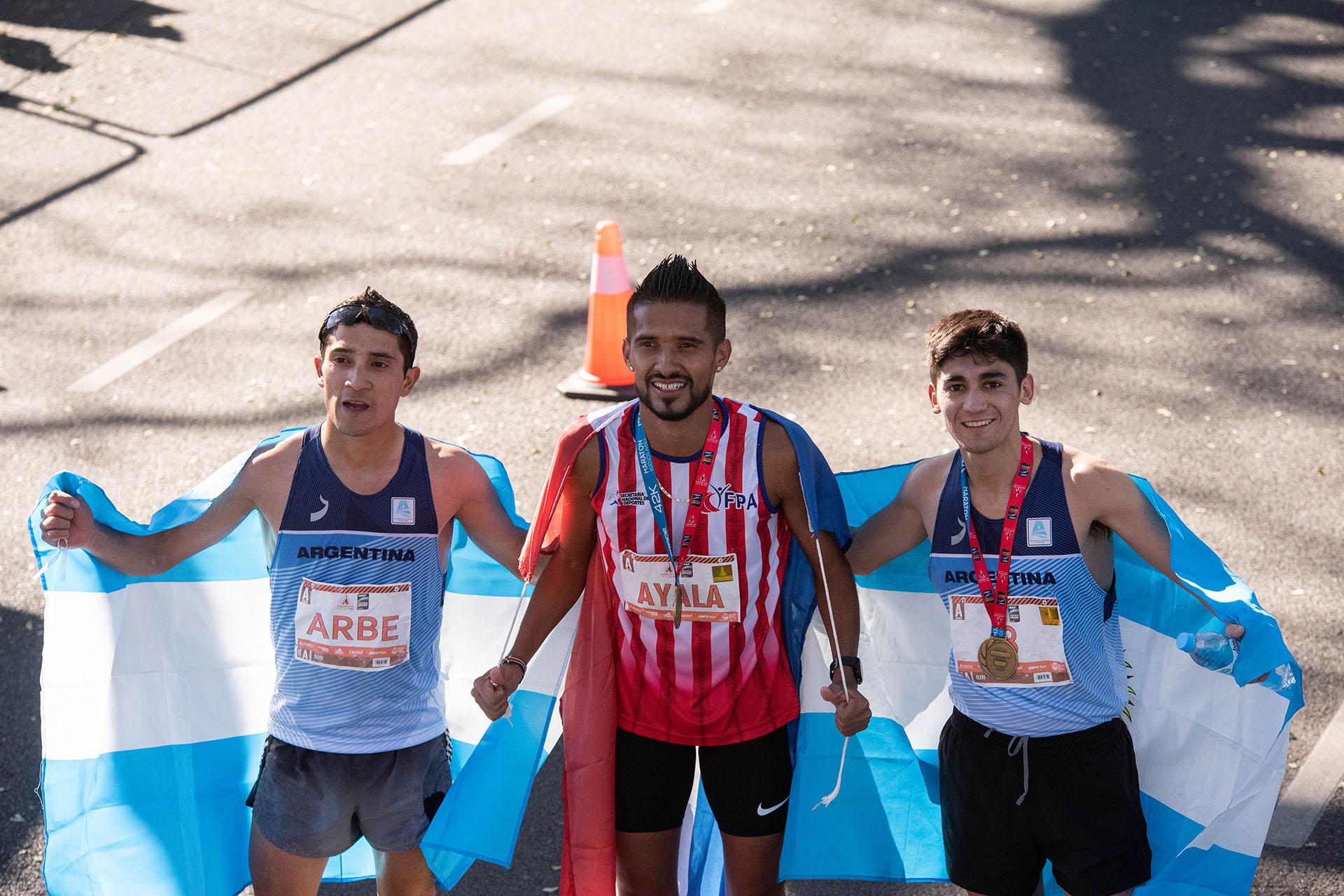 La imagen de los tres sudamericanos mejor clasificados