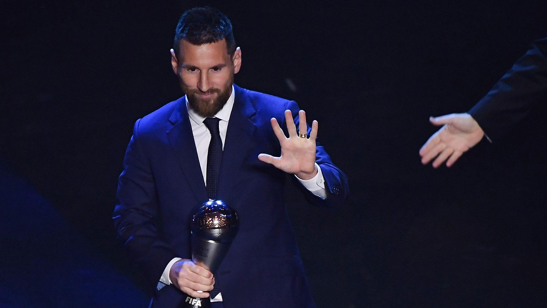 El argentino sumó así su sexto galardón junto a los cinco Balones de Oro que ya había conseguido