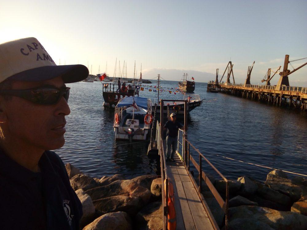 Foto 2 MUELLE DE ANTOFAGASTA. Punto desde donde uno puede hacer paseos en pequeñas embarcaciones por la ribera del océano Pacífico.
