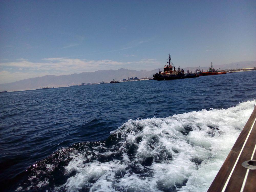 Puerto de Mejillones, uno de los más importantes de la región de Antofagasta.