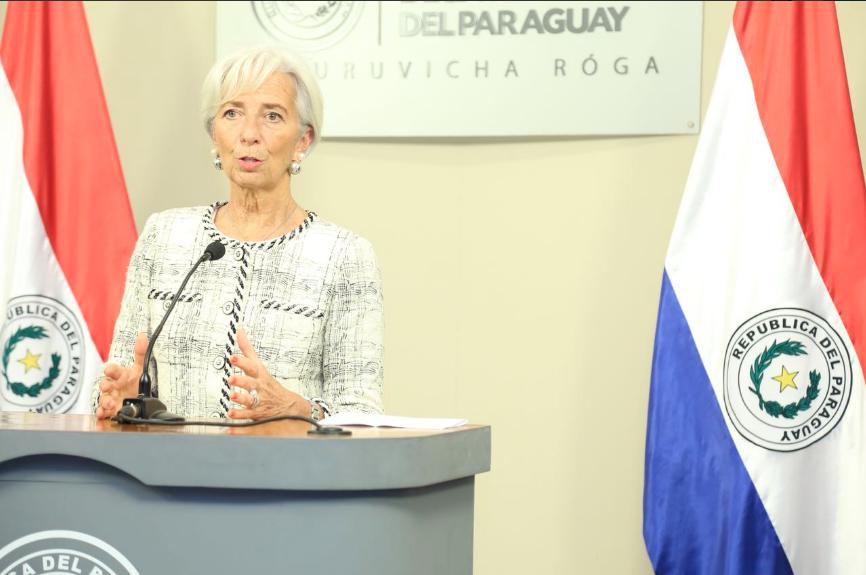 Christine Lagarde, titular del FMI. Foto: Hacienda Paraguay @Haciendapy, Twitter.