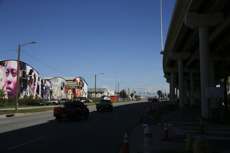 A look at the area just north of the Selmon Expressway by the Ybor Channel Tuesday afternoon in Tampa (10/24/17). Hillsborough is close to naming its site for a proposed ballpark and we're hearing that it will be in the area near the Ybor Channel on the north side of the Selmon. [DIRK SHADD | Times]