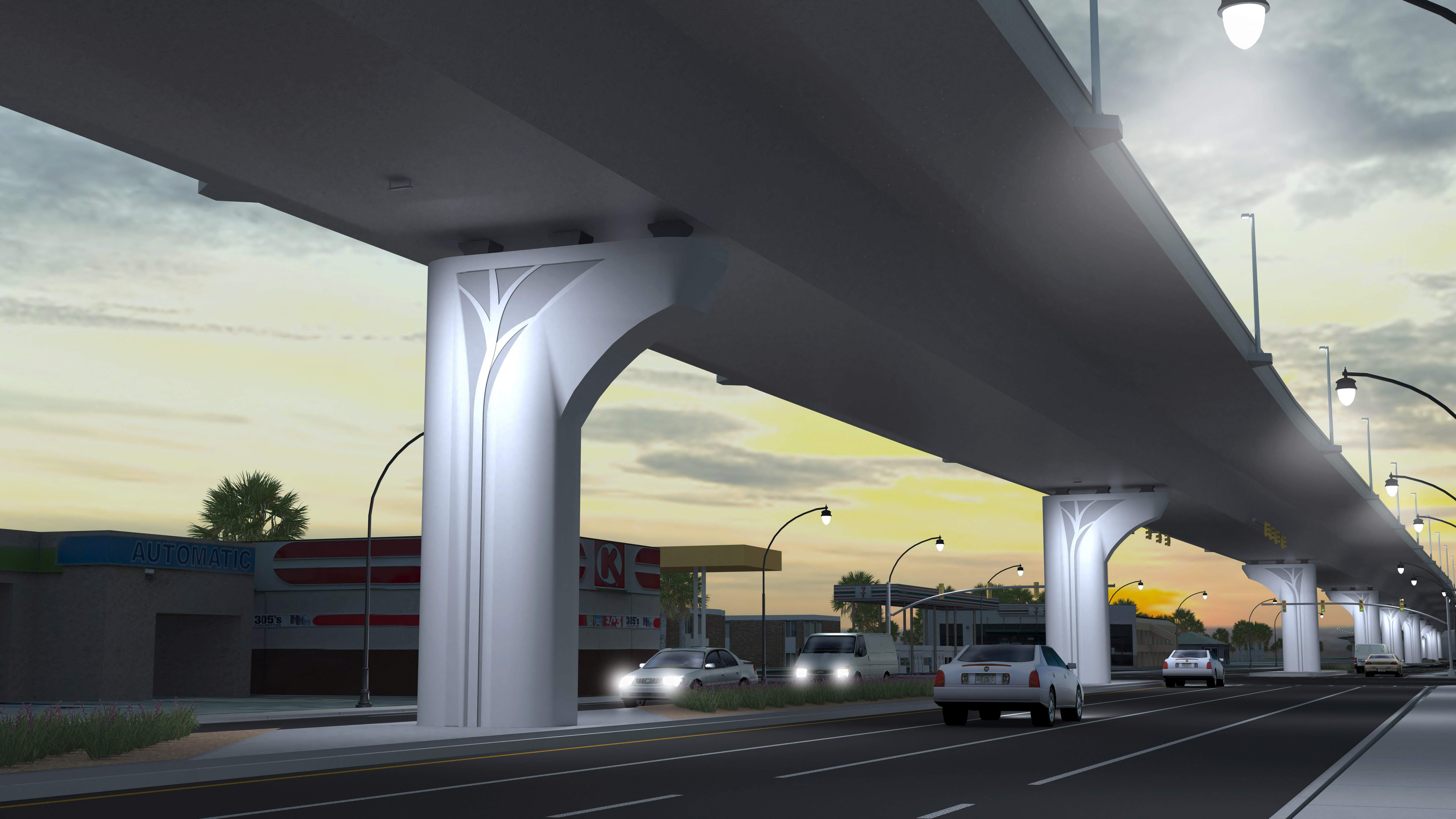 Voters overwhelmingly supported a pier design called Estuary for the $200-million extension of the Lee Roy Selmon Expressway in Tampa. [Courtesy of AECOM]