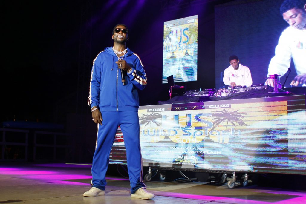 Gucci Mane performs at Wild 94.1's Wild Splash concert at Coachman Park in Clearwater. [Luis Santana | Times]