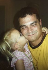 An undated photo of Charles Kondek and his daughter Aleena. The Tarpon Springs police officer was killed in the line of duty on Dec. 21, 2014. [Courtesy of Teresa Kondek]