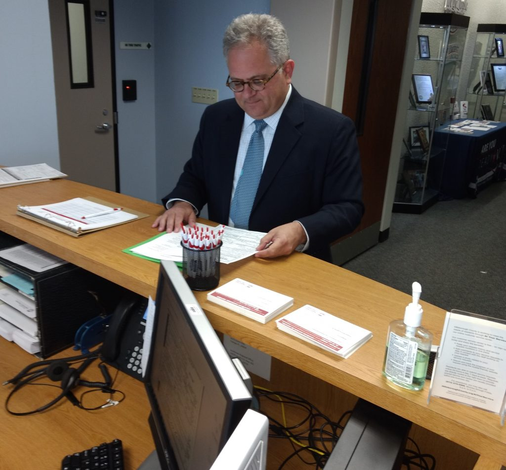 City council member Harry Cohen, shown here filing to run for Tampa mayor, criticized a proposal to close part of Bayshore Boulevard to motorized traffic. [William March, special to the Times]