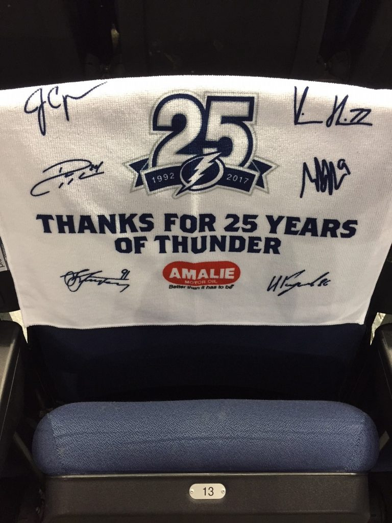 Fans attending tonight's Lightning game will find a rally towel at their seat. [ROGER MOONEY | Times]