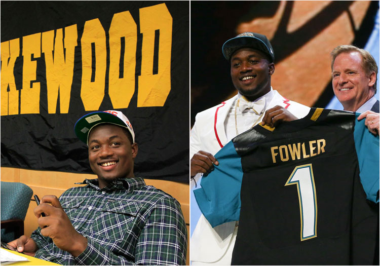 Dante Fowler, from the 2012 day he signed with the Florida Gators at Lakewood and the 2015 day he was drafted No. 3 overall by the Jacksonville Jaguars. [Times/wire file]