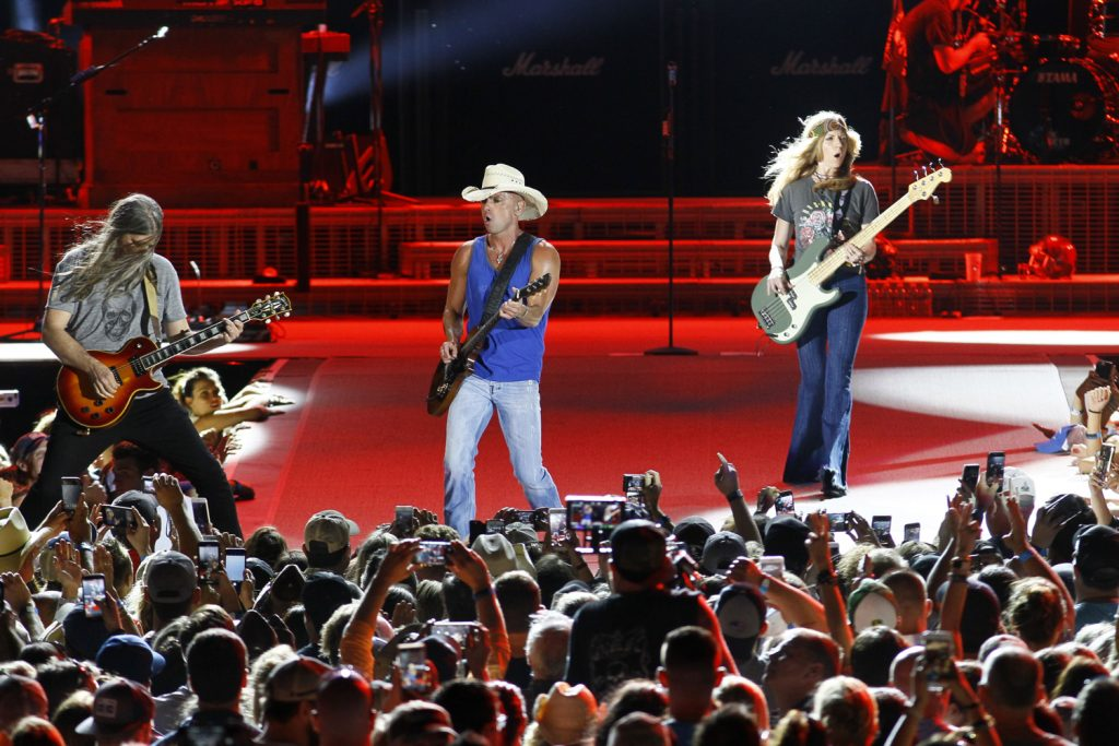 Kenny Chesney performed at Tampa's Raymond James Stadium during opening night of the his Trip Around The Sun Tour on April 21, 2018. [Luis Santana | Times]