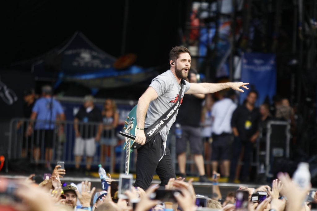 Thomas Rhett performed at Tampa's Raymond James Stadium during opening night of Kenny Chesney's Trip Around The Sun Tour on April 21, 2018. [Luis Santana | Times]