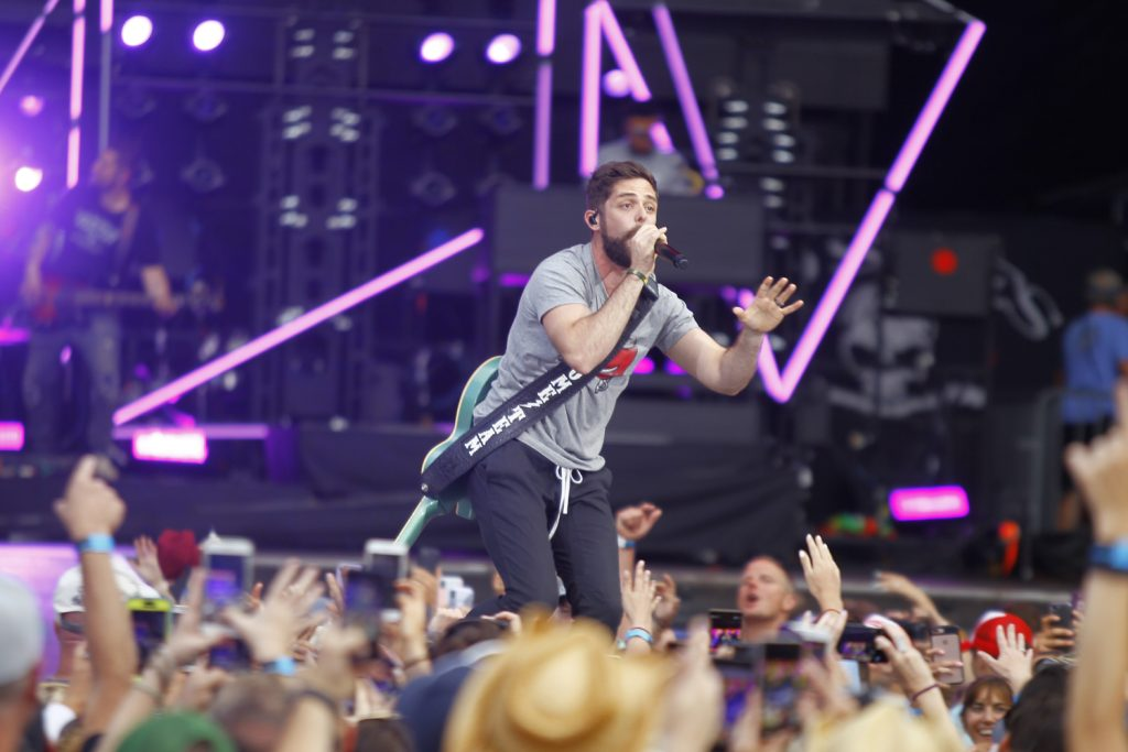Thomas Rhett performed at Tampa's Raymond James Stadium during the opening night of Kenny Chesney's Trip Around The Sun Tour on April 21, 2018. [Luis Santana | Times]