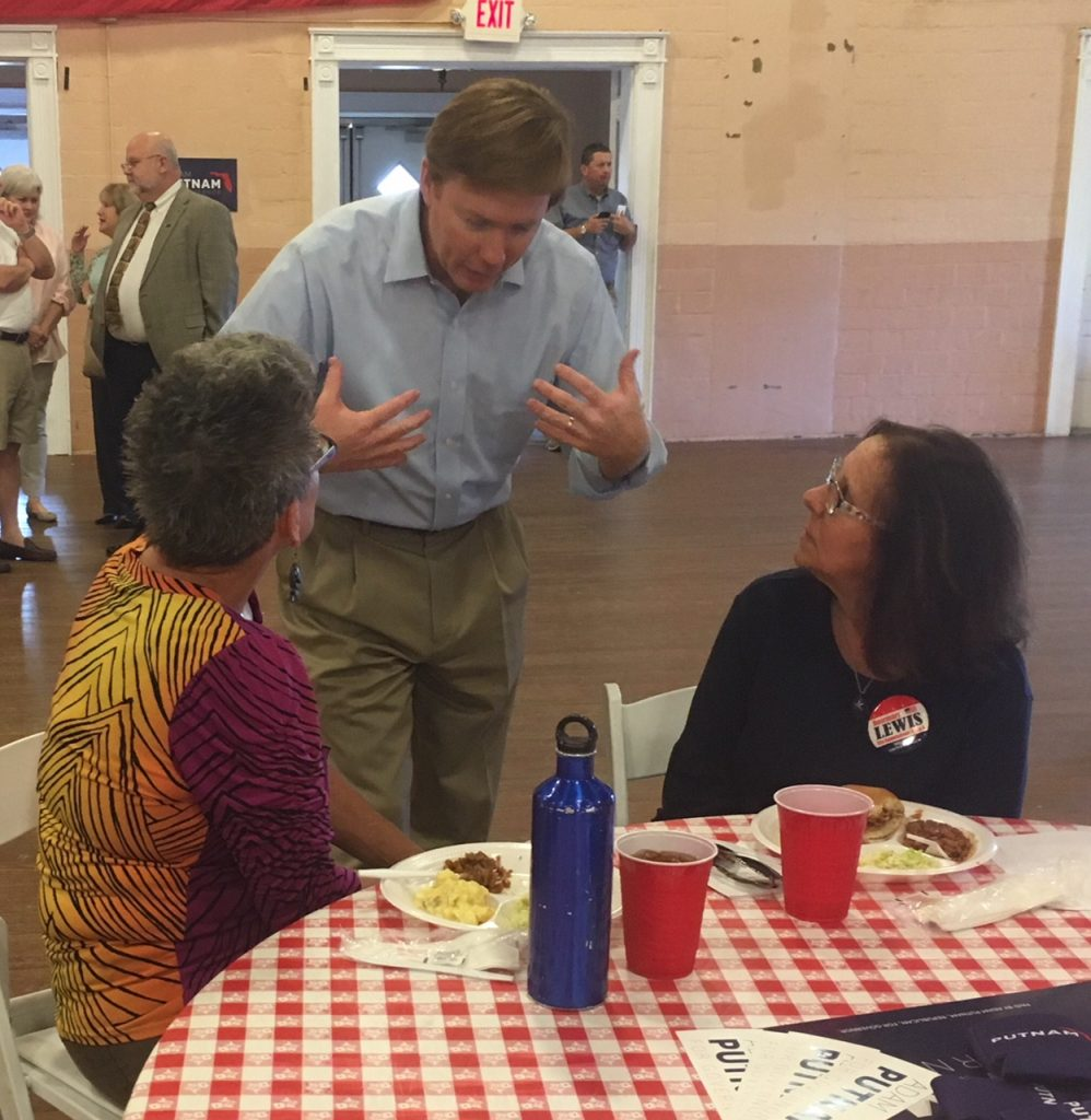 Putnam at a grass roots barbecue in Port St. Joe on Monday night. [STEVE BOUSQUET   Tampa Bay Times]