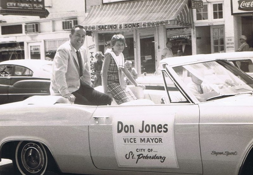 Former St. Petersburg Mayor Don Jones died on May 16. He was 92. In this undated photo he is seen on the campaign trail. [Courtesy of St. Petersburg Mayor Rick Kriseman]