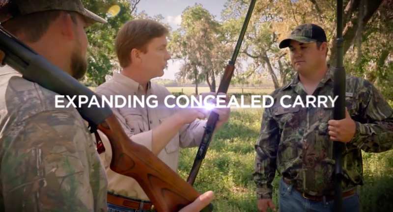 Adam Putnam touts his efforts to expand concealed carry gun permits in Florida in a Facebook ad. [Facebook]