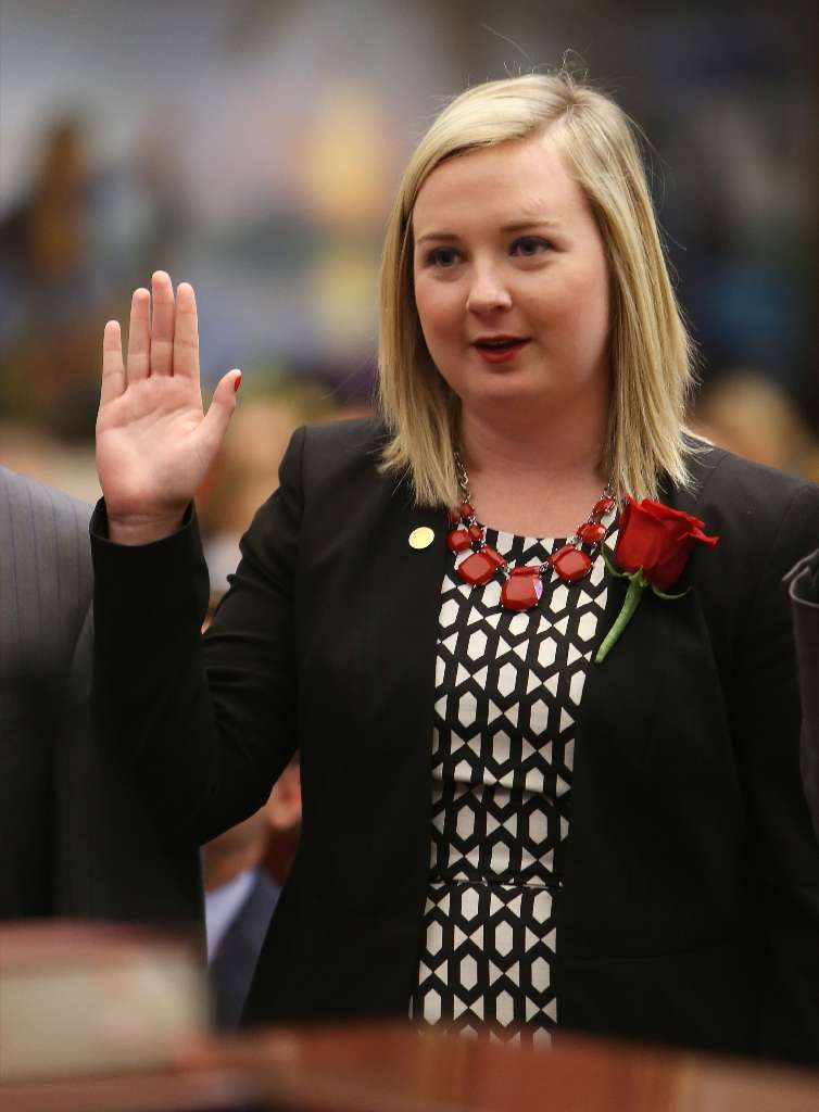 Rep. Amber Mariano, became the youngest member of the Florida House when she was sworn into office in 2016 at the age of 21. [SCOTT KEELER | Tampa Bay Times]