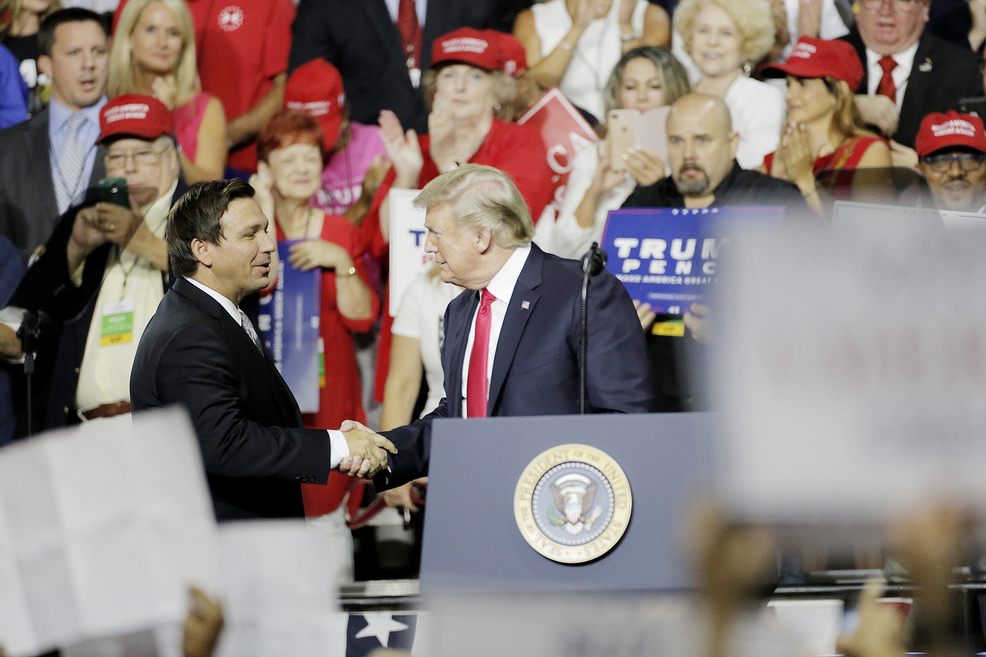 Trump Boosts DeSantis, Scott Ahead of Florida GOP Primary