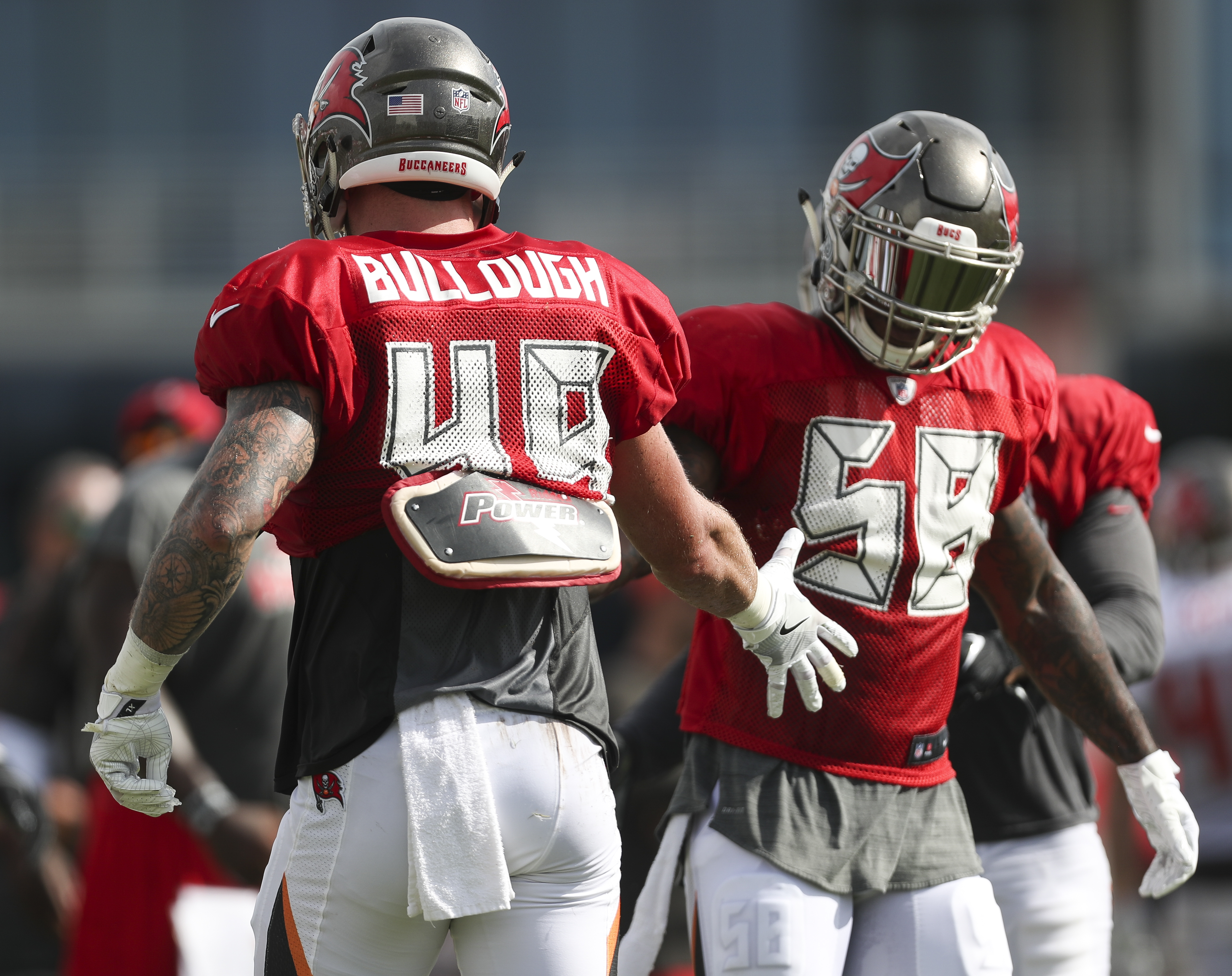 san francisco 90356 bbbdf Riley Bullough returns to aid Bucs' depleted linebacking corps