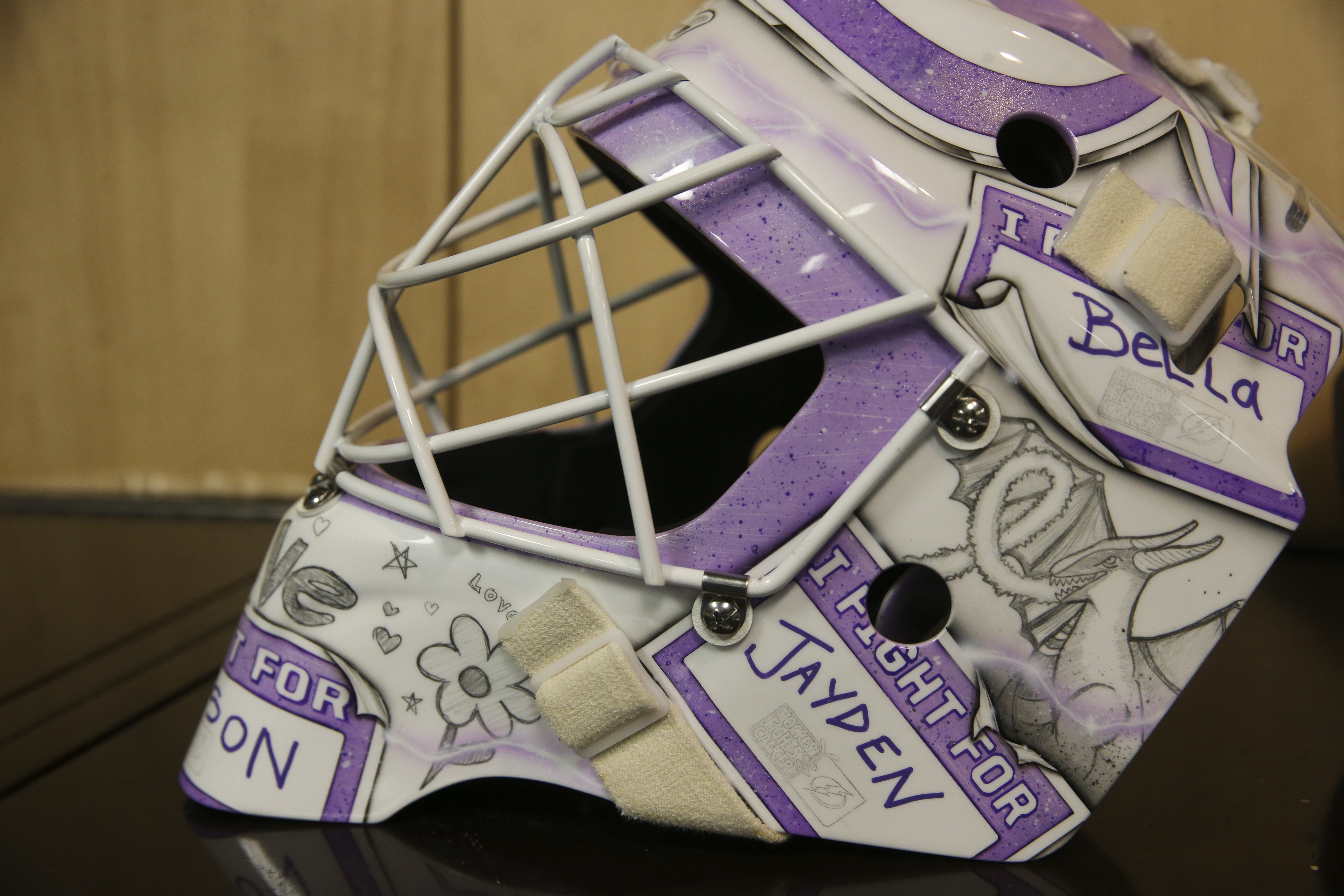 watch 8e4d7 0ca93 Louis Domingue wore special mask all month