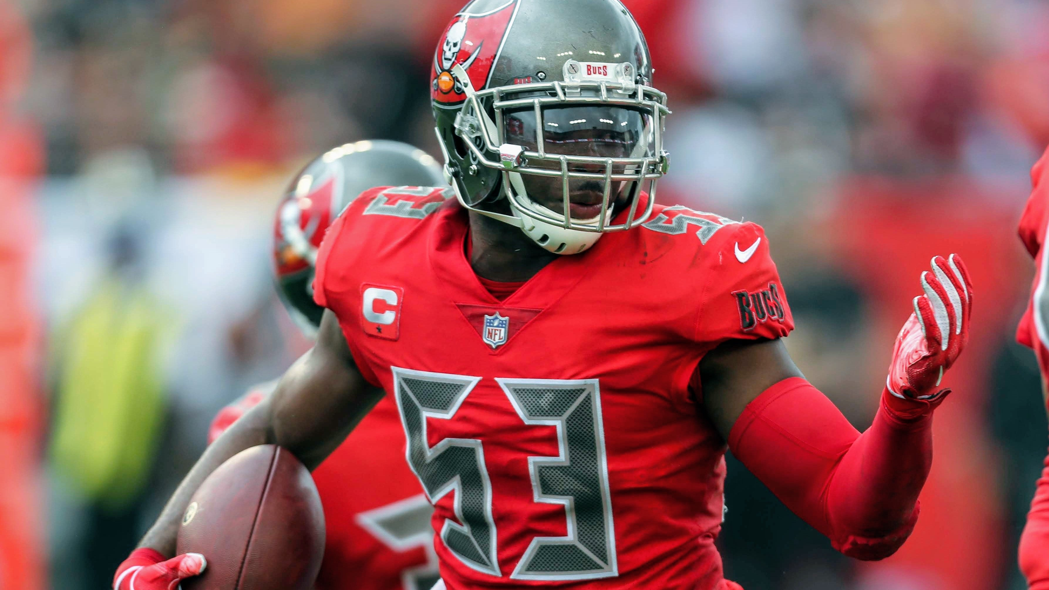 sneakers for cheap b8da0 d1e49 Bucs-Ravens pregame: Bucs will be without middle linebacker ...