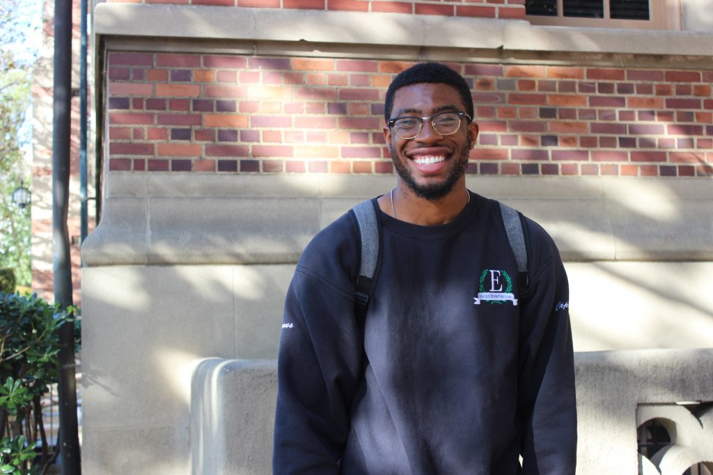 "Quincy Nkwonta, a senior at USC, said: ""It's heartbreaking that these things have come to light and finally solidified as real things but it does not surprise us."" (Photo by Jessica Flores)"